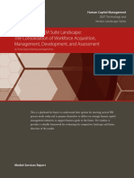 AMR Research - The Strategic HCM Suite Landscape- The Consolidation of Workforce Acquisition, Management, Development and Assessment - September 2007,