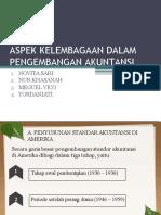 Aspek Kelembagaan Dalam Pengembangan Akuntansi