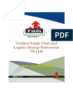 Vs 1448 Certified Supply Chain and Logistics Strategy Professional Brochure