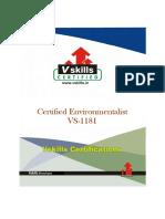 Vs 1181 Certified Environmentalist Brochure