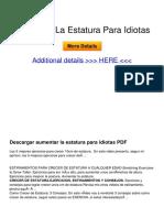Como Aumentar de Estatura a Cualquier Edad 100 Natural PDF