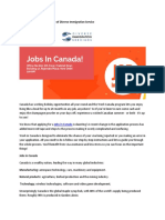 Find Jobs in Canada With Help of Diverse Immigration Service