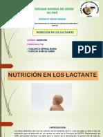 NUTRICIÓN DE LOS LACTANTES