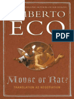 Mouse or Rat, Translation as Meditation - Umberto Eco