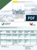 VL Schweisskurs SS2009