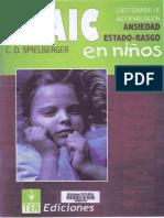Manual Cuestionario STAIC (Niños y Adoloscentes)