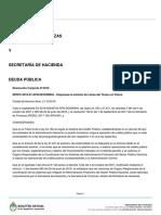 Boletín Oficial Letras del Tesoro con financiamiento de la Anses.