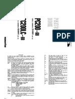 ESCAVADEIRA KOMATSU PC200-6 - Catálogo de Peças