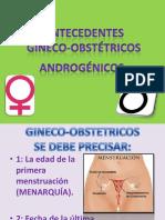 ANTECEDENTES GINECOBSTÉTRICOS ANDROGÉNICOS