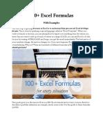 Excel Formulas for specialization