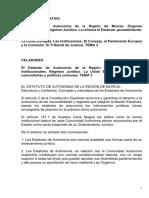 Estatuto Autonomia y UE Murcia