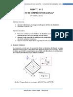Ensayo Compresion Diagonal