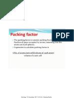 Packing Factor