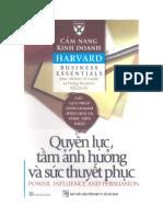 Cẩm Nang Kinh Doanh Harvard - Quyền Lực, Tầm Ảnh Hưởng Và Sức Thuyết Phục