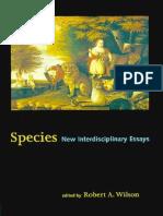 Wilson, R. a._species - New Interdisciplinary Essays