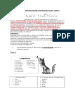 Evaluación Diagnóstica Lenguaje y Comunicación 5 Básico Unidad 2