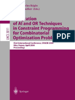 (Lecture Notes in Computer Science 3011) Christos T. Maravelias, Ignacio E. Grossmann (Auth.), Jean-Charles Régin, Michel Rueher (Eds.)-Integration of AI and or Techniques in Constraint Programming Fo