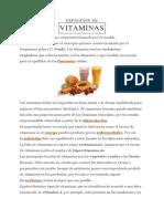 Definicion de Vitaminas