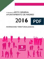 Presuptos Generales del Ayuntamiento de Madrid 2016