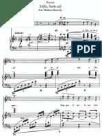 Addio, Fiorito Asil - Puccini