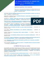 Revue de Presse Numerique Snesup-fsu Ndeg 11 - Semaine Du 14 Au 21 Decembre 2018
