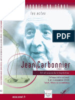 ActesColloque Jean Carbonnier Novembre2008