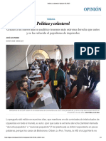 Política y colesterol _ Opinión _ EL PAÍS