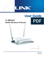TP LINK MR3420 User Guide