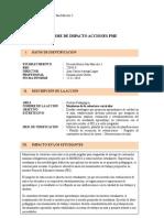 Informe de Impacto Acciones Pme Monitoreo
