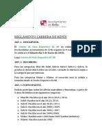 Reglamento Carrera de Reyes 5 Enero 2019
