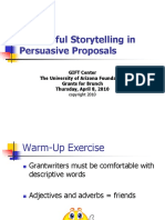 Successful Storytelling in Persuasive Proposals