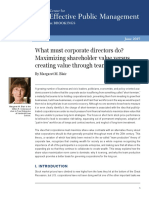 What Must Corporate Directors Do.
