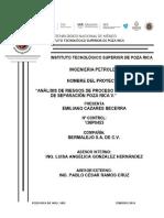 Análisis de Riesgo Para La Batería de Separación Poza Rica v.1