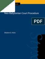 Neo-Babylonian Court Procedure