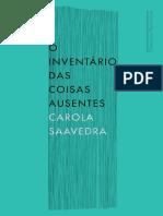 Carola Saavedra - O Inventário Das Coisas Ausentes (1).pdf