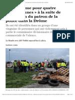 Prison ferme pour quatre «gilets jaunes» à la suite de l'agression du patron de la police dans la Drôme