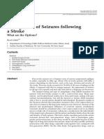 Management of Seizures Following a Stroke