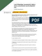 Ligar Por Whatsapp Incrementa Tu Labia y Domina La Comunicacin Escrita Spanish Edition by David Jungle George Massoni b00qil14q4