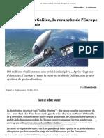 Les Satellites Galileo, La Revanche de l'Europe Sur Les Etats-Unis