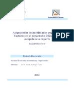 Adquisición de habilidades cognitivas. Factores en el desarrollo inicial de la competencia expert.pdf