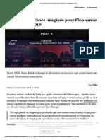 Les scénarios chocs imaginés pour l'économie mondiale en 2019