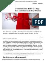 Revendrez-vous vos cadeaux de Noël ? Dé...000 nouvelles annonces sur eBay France