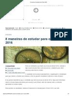8 maneiras de estudar para o Enem 2016.pdf