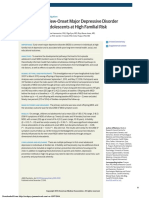 Antecedents of New-Onset Major Depressive Disorder in Children and Adolescents at High Familial Risk