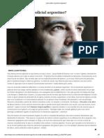 Qué Define Al Policial Argentino Revista Ñ