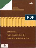 Diretrizes Para Elaboração de Tesauros Monolíngues