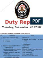 Duty Report, 4 Des 18