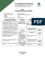 Informe Pedagógico Anual Del Estudiante