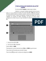 Activar o Dsactivar 2daFuncion Laptop