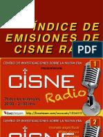 CISNE Radio & TV Índice de Programas 2015 - 2018